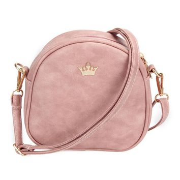 Day-First™ New Fashion Designer Handbag Phone Purse Women Small Bag Imperial Crown Women Messenger Bag Shoulder Crossbody Bag PU