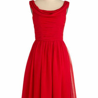 Red-y to Dance Dress | Mod Retro Vintage Solid Dresses | ModCloth.com