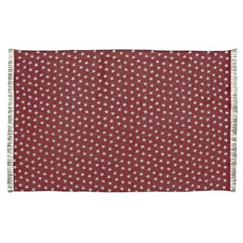 Multi-Star Red - Cotton- Rectangle - 48 x 72 - Rug