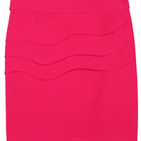 Tiered Wiggle Rose Red Skirt