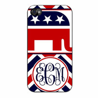Chevron Republican Monogram 6234 iPhone 4/4s Case