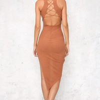She Wants Revenge Maxi Dress Rust