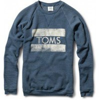 Men's Heather Dark Blue TOMS Classic Crew  | TOMS.com