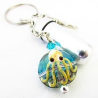 Octopus Pill Case, Keychain Pill Case, Waterproof Pill Case, Pill Holder, Octopus Key Chain