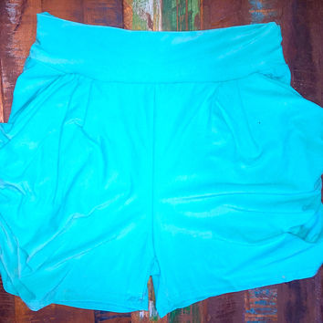 Solid Color Harem Soft Pocket Shorts Mint *FINAL SALE!*