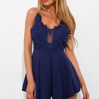 Rebound Playsuit Navy