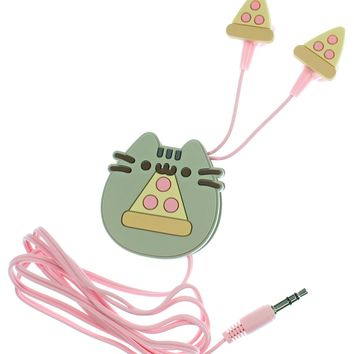 Pusheen The Cat Pizza Earbuds Earphones