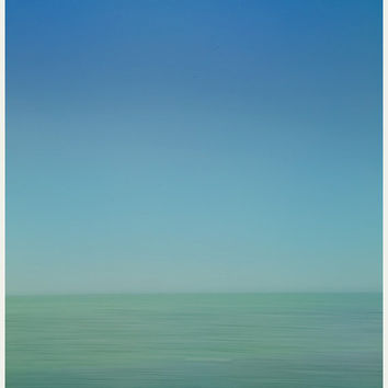 New Pass - Abstract Photography of Sarasota Bay, Wall Art, Landscape Photograph, Home Decor, Blue, Green, Turquoise White, Water, Coastal