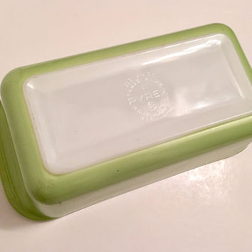 Vintage Green Pyrex Loaf Pan, Green Pyrex Baking Dish, Bread Pan