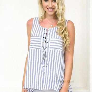 Summer Chevron Top