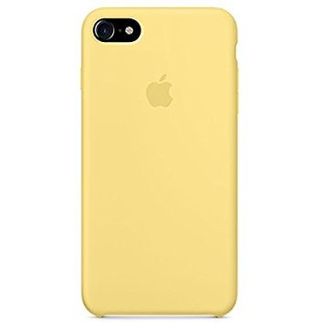 Optimal shield Soft Apple Silicone Case Cover for Apple iPhone 8 (4.7inch) Boxed- Retail Packaging (Yellow)