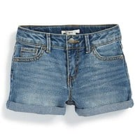 Girl's Roxy 'Blue Crush' Cuff Denim Shorts,
