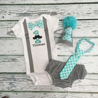 Baby Boys 1st Birthday Outfit, BABY BOYS DIAPER Cover