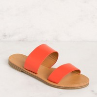 Katida Coral Slide On Sandals