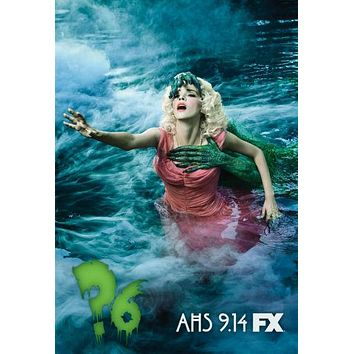 American Horror Story poster Metal Sign Wall Art 8inx12in