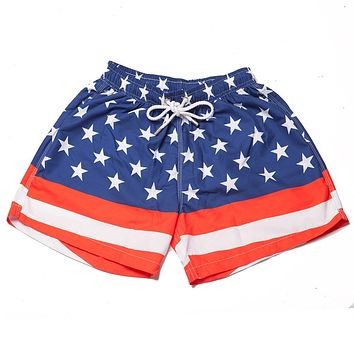 The Salutes Swim Trunks in American Flag by Kennedy