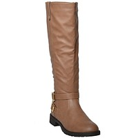Womens Knee High Riding Boots Camel