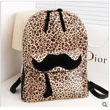 On Sale Back To School College Casual Hot Deal Comfort Stylish Korean Bags Leopard Soft Nylon Cartoons Backpack [6582449927]