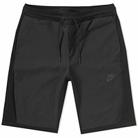 Nike Men's NSW Sportswear Tech Knit Shorts Triple Black 886179-010