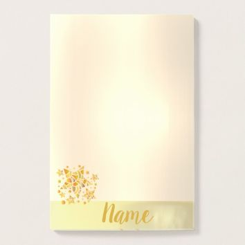 Golden Stars Post-it Notes