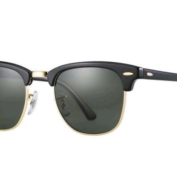 Ray-Ban Clubmaster Classic RB3016 Sunglasses RB3016 W0365 Green Classic G-15