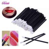Bittb 100pc Disposable Makeup Lip Brush Lipstick Gloss Brushes Set Eyeliner Eye Shadow Applicator Makeup Tools Beauty Essentials