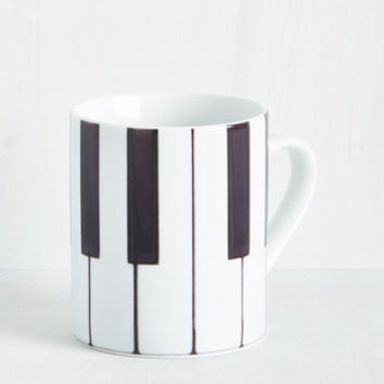 The Food Fighters Mug in Piano | Mod Retro Vintage Kitchen | ModCloth.com