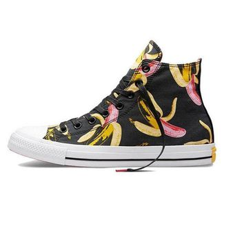DCCKHD9 Converse Print Black Banana All Star Sneakers for Unisex Hight tops sports Leisure Com