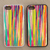 Cute Abstract Pattern Dripping Paint iPhone Case, iPhone 5 Case, iPhone 4S Case, iPhone 4 Case - SKU: 213