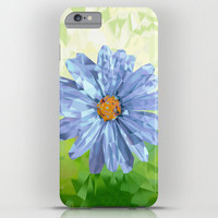 High Quality iPhone CASE - iPhone 6 - iPhone6 Plus - iPhone 5 - Slim and Tough options available -  Daisy Blue Diamond Floral Phone Case
