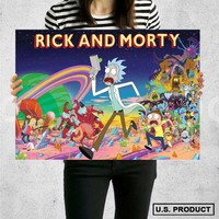 Poster Print Rick and Morty Wall Decor Canvas Print - halawatani.com