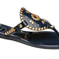 Jack Rogers Jelly Sandal- Midnight Navy and Gold