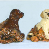 Labrador Puppy (Playing In Leaves) Dog Figurine