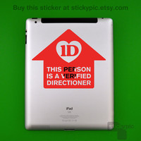 iPad - Verified Directioner - One Direction - (Laptop Decal 1D Wall Sticker Decal PC Apple Macbook Mac Geekery)