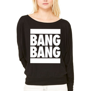 Bang Bang WOMEN'S FLOWY LONG SLEEVE OFF SHOULDER TEE