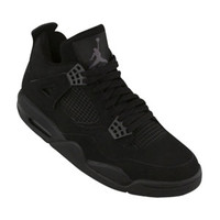 Nike Air Jordan 4 Retro (black / black / lt graphite) Shoes 308498-002 | PickYourShoes.com