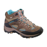 MERRELL Women's Salida Mid Waterproof Hiking Boots, Dark Earth