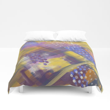 Abstract Plaid Duvet Cover by patternmuse
