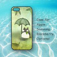 Totoro, iphone 4 case, iphone 5 case, ipod 4 case, ipod 5 case, note 2,Samsung galaxy S3,Samsung galaxy S4,blackberry z10,q10