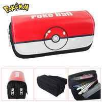 FVIP Cartoon Cosmetic Makeup Pencil Pen Case Bag Poke Go Gravity Falls Minecraft  Doctor Who Zelda Poke Ball Purse Bag