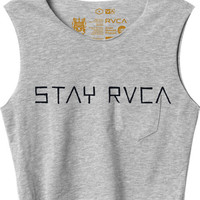 Stay RVCA Cropped T-Shirt | RVCA