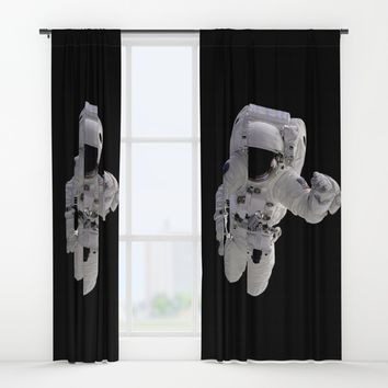 Astronaut Window Curtains by Henrik Lehnerer