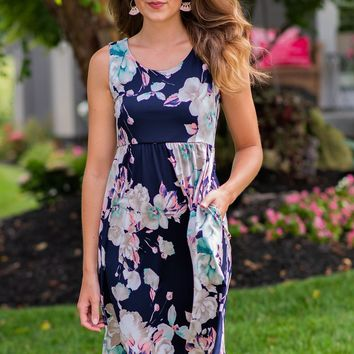 Every Heartbeat Dress: Navy
