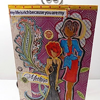 My Life Is Rich…Handmade Card for Mothers . Ready to Ship.