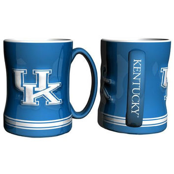 Kentucky Wildcats NCAA Coffee Mug - 15oz Sculpted (Single Mug)