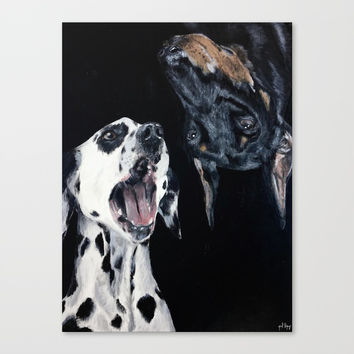 Contrasting Dogs Canvas Print by Yuval Ozery