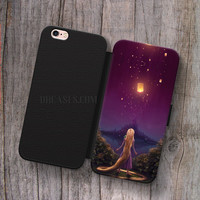 Tangled Lantern Disney Wallet Leather Case for iPhone 4s 5s 5C SE 6S Plus Case, Samsung S3 S4 S5 S6 S7 Edge Note 3 4 5 Cases