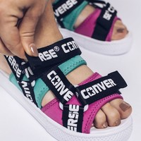 CONVERSE CV sandals logo tape Lightweight Beach Magic Tie Baita Leisure Sports Sandals