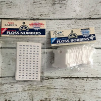 DMC Plastic Floss Bobbins Self Stick Numbers Embroidery Craft Supplies