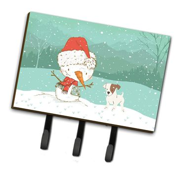 Jack Russell Terrier Snowman Christmas Leash or Key Holder CK2090TH68